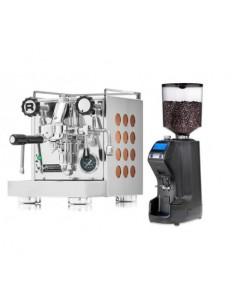 مجموعة آلة القهوة روكيت أبارتامينتو و طاحنة القهوة نوفا