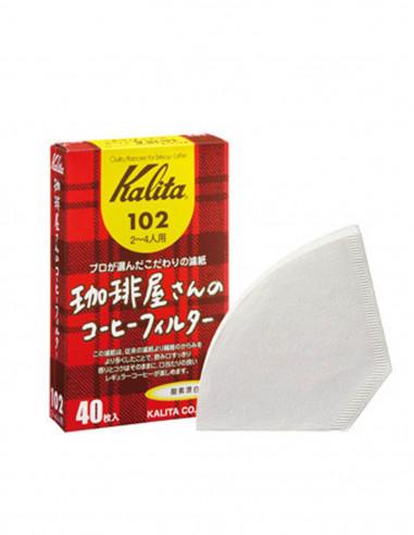 كاليتا 102 - مصفي ورقي باللون الأبيض 40 حبة