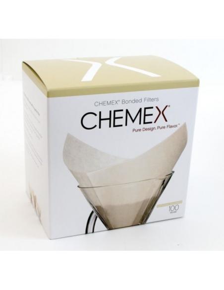 كيمكس - مرشحات القهوة المربعة المطوية مسبقا