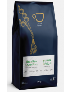 Buy Hjeen Coffee Brazilian Ouro Fino 250g in Saudi Arabia