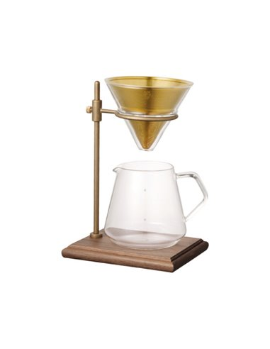 Slow Coffee Style Specialty Brewer Stand Set 4 Cups