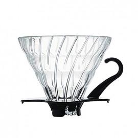 قُمع تقطير القهوة من الزجاج - V60 هاريو