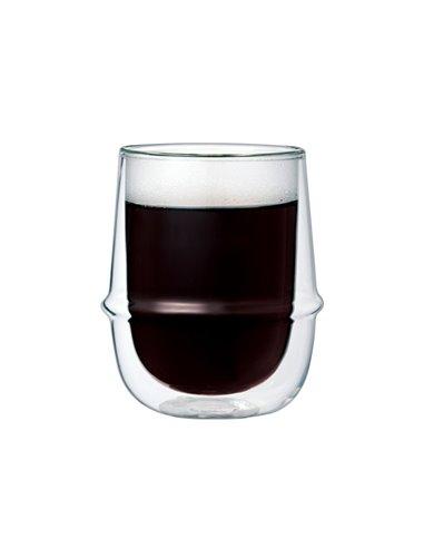 كأس زجاج  بجدار مزدوج للقهوة السوداء