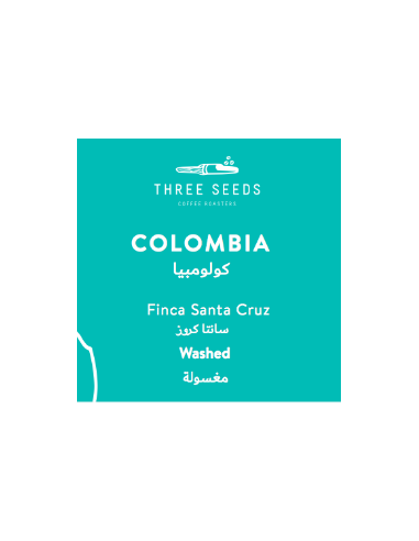 3 Seeds Colombia Santa Cruz Whole Beans Coffee 250 g