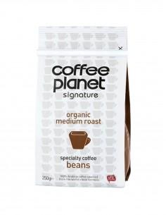 Coffee Planet Certified Organic Whole Bean Coffee 250 g